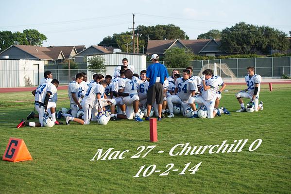 10 2 14 Mav Vs Churchill Football A