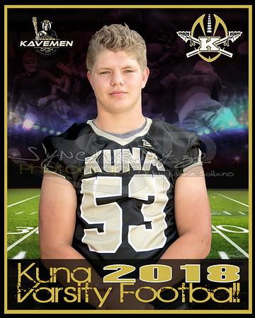 KHS Varsity Individual Football Photographs 2018