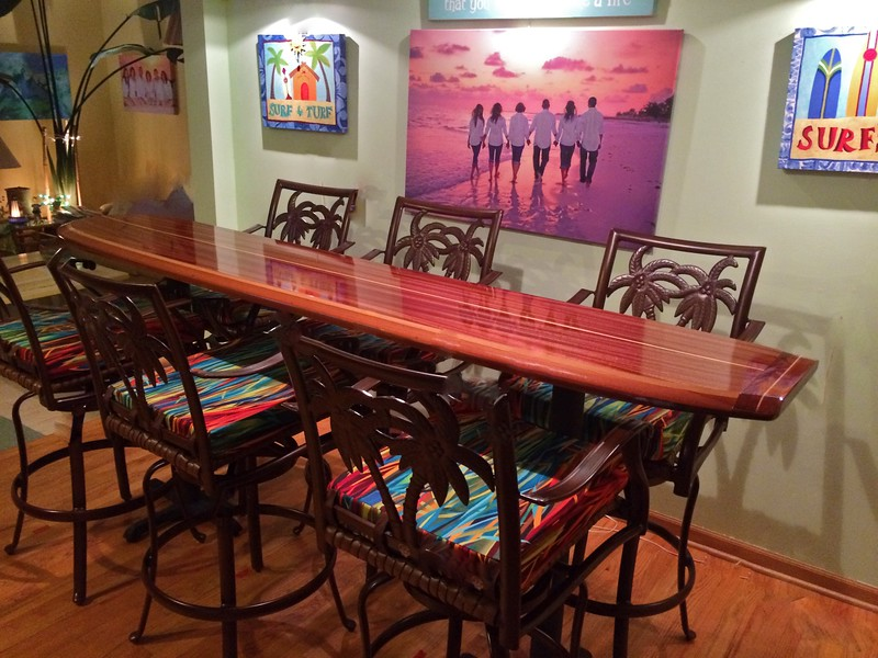 "8'3"" x 22"" Santa Cruz bar table top dinning table"