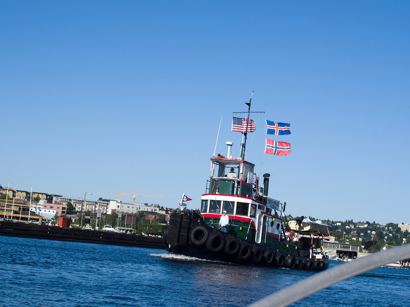 The Thea Belle tugboat.  I found the owner's website here: