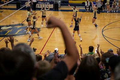 Frederick Volleyball Sweeps Skyline