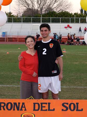 Corona Boys Soccer senior NIght