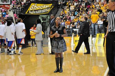 Amari sings National Anthem at WSU Dec 10, 2010
