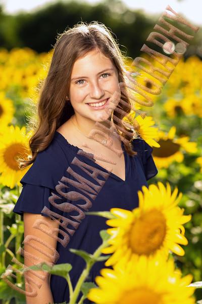 Allison + Nicole at the sunflower field