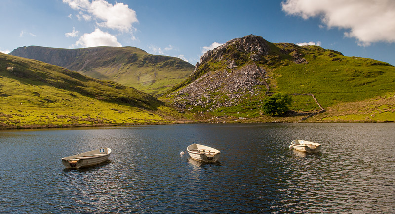 Fishing lake in Snowdonia
