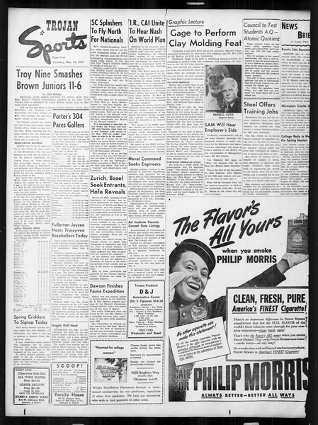 Daily Trojan, Vol. 38, No. 97, March 18, 1947
