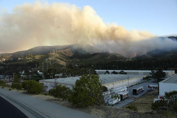 San Bruno Mtn fire - Sun 6/22/08
