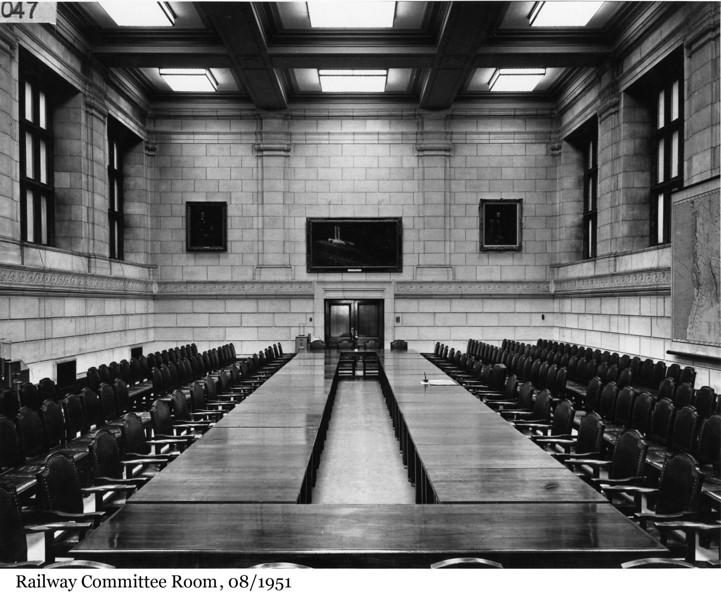 Railway Committee Room - La Salle des chemins de fer, 08/1951