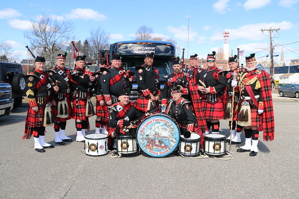 Ceremony - New London Firefighters Pipes & Drums, New London, CT - 3/17/19