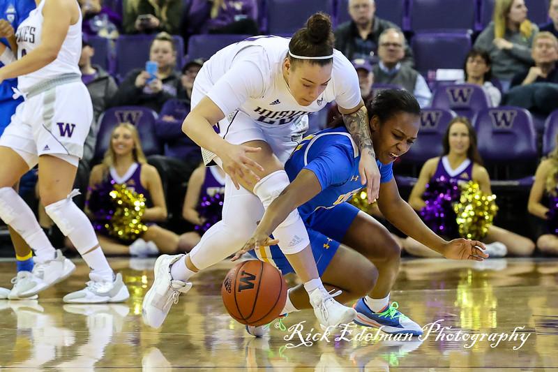 UCLA vs UW Women's Basketball - 2020
