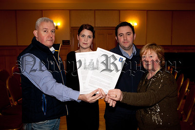 Colm Murphy (President), Fiona Kieran (PRO), Robert McAllister (Secretary) and Mary Short (Executive Member). R1503010