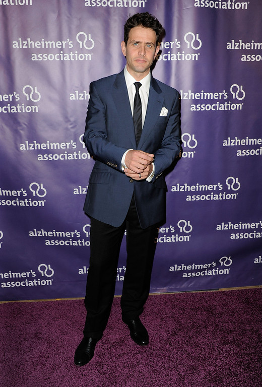 ". BEVERLY HILLS, CA - MARCH 21:  Actor Joey McIntyre arrives at the 20th Anniversary Alzheimer\'s Association ""A Night At Sardi\'s\"" at The Beverly Hilton Hotel on March 21, 2012 in Beverly Hills, California.  (Photo by Frazer Harrison/Getty Images)"