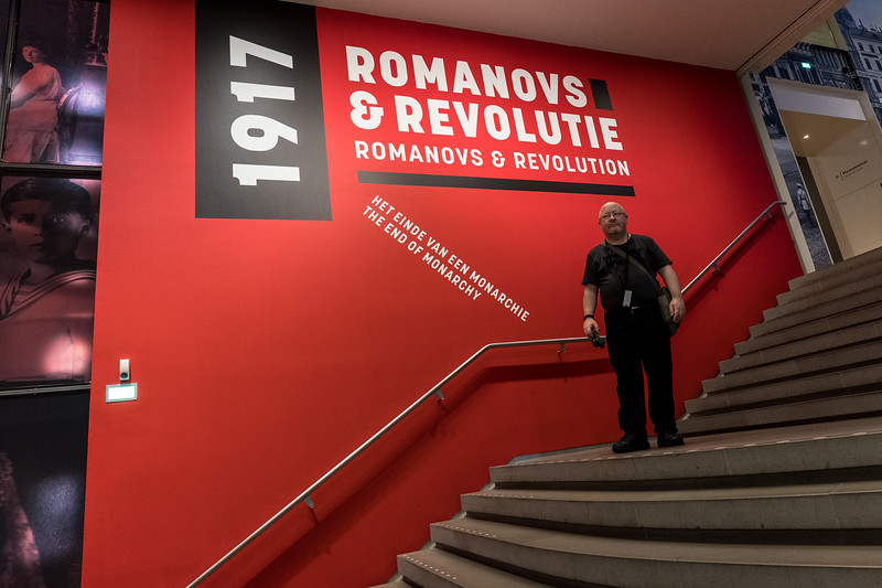 "At The Entrance To ""Romanovs & Revolution"""