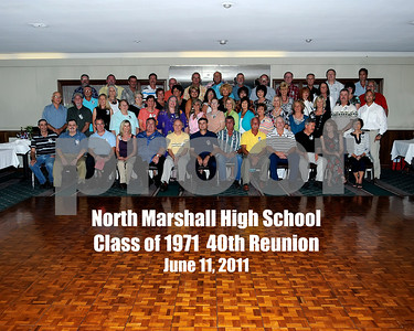 North Marshall High School Class Of 1971 40th Reunion June 11, 2011.