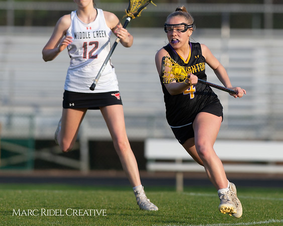 Broughton Lady Caps lacrosse at Middle Creek. February 26, 2019. D4S_1758
