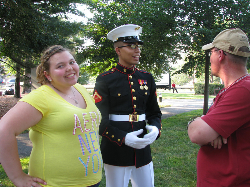 Kayla posing by the Marine ;)