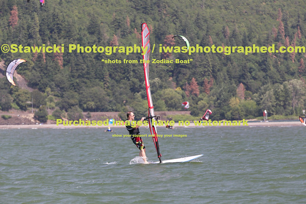 Sunday August 3, 2014 Zodiac at the Eventsite and Sandbar, SUP'ers, Sailboats, Jet ski's, and the WSB. 1327 Images loaded.