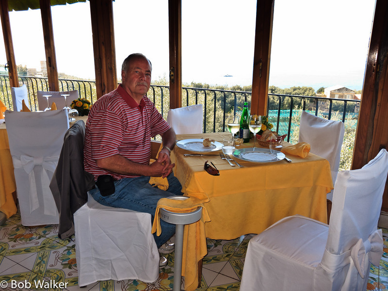Restaurant with a great view of Isle of Capri