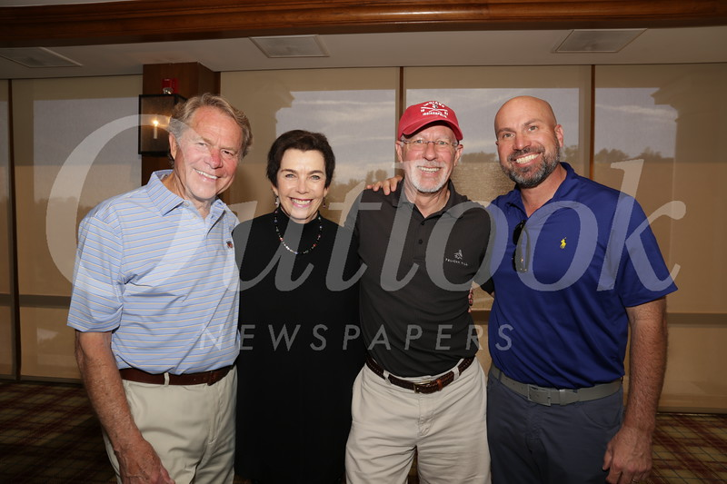 Al Plamann, vice chair Beverly Marksbury, board chair Steve Johnson and John Berger