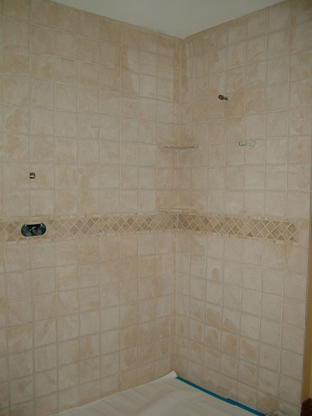 Shower in the other downstairs bathroom