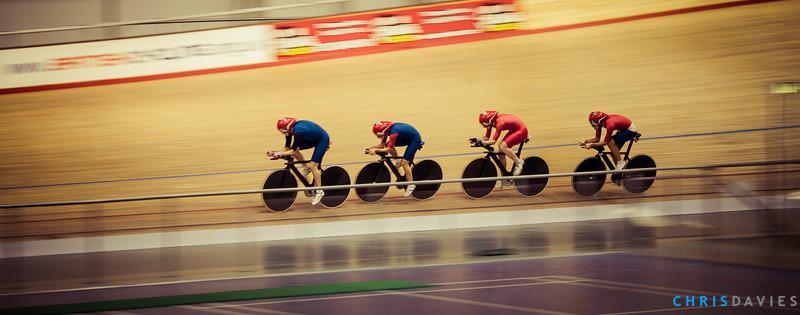 Team GB Mens team persuit training