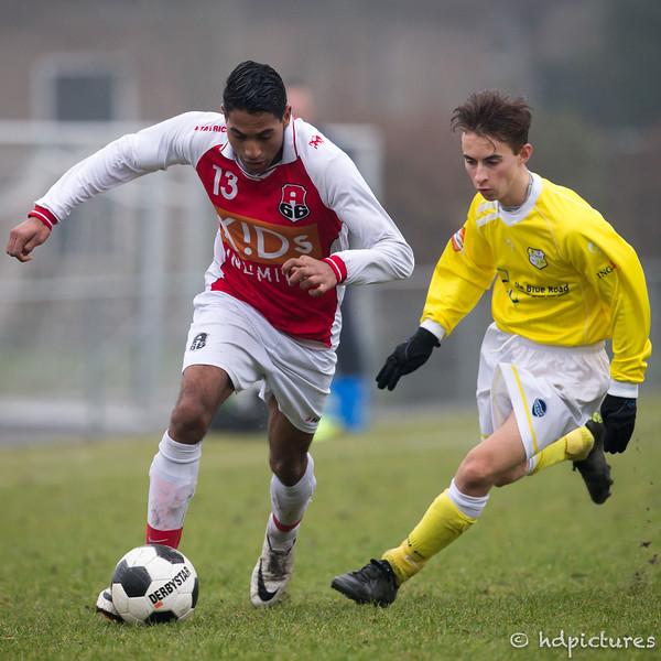 10-12-2016: Voetbal: Spirit O19-2 v Alexandria '66 O19-2 Seizoen 2016/2017