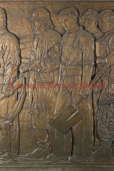 Frieze Detail of Service Personnel  Left Signalman R.N., Right Stoker R.N.