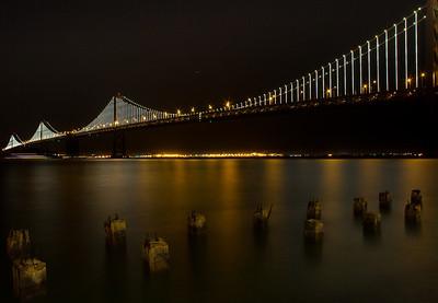 San Francisco Bay Bridge Lights
