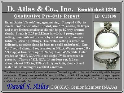 .81ct Old European Cut Diamond in Brian Gavin Setting
