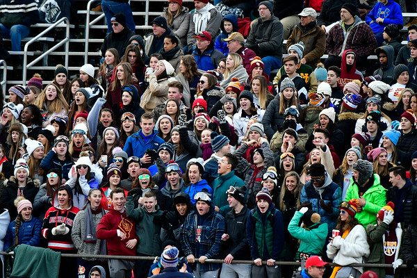 12/8/2018 Mike Orazzi | Staff Fans during Saturday's Class M Football State Football Championship at Shelton High School. St. Joseph won St. Joseph 70 to 18.