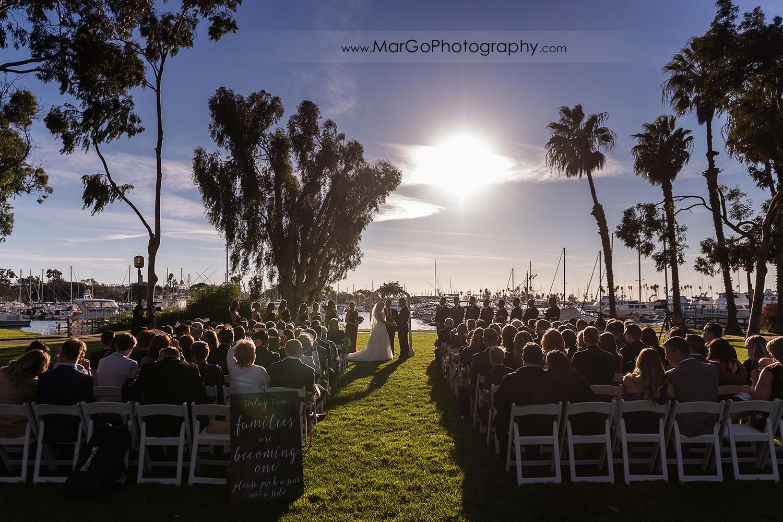 wedding ceremony at San Diego Marina Village