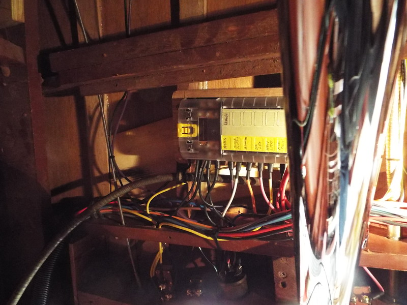 New fuse block with the cover installed and the circuits labeled.