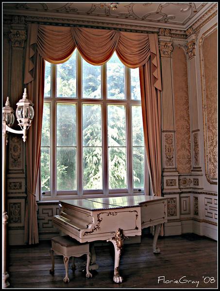 Grand Piano; Regency Room, Wroxton Abbey, Oxfordshire, England