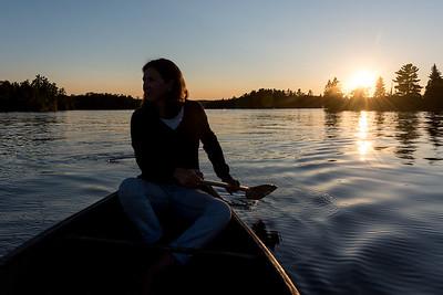 Canoe Trip at Sunset