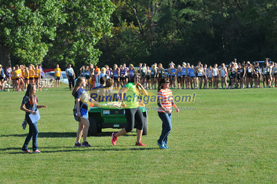 Women's College 5K Start - 2013 Michigan Intercollegiate XC Meet