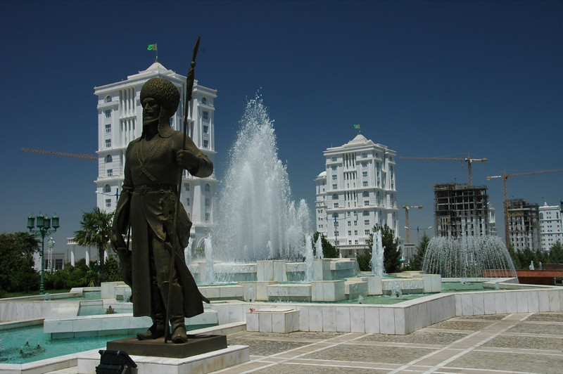 Fountains and Statues - Ashgabat, Turkmenistan