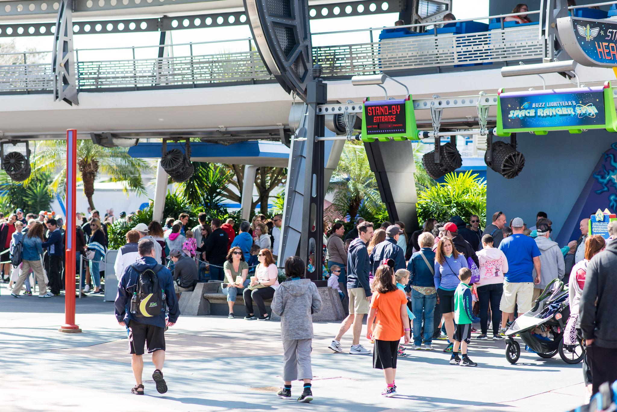 Buzz Lightyear Crowds - Walt Disney World Magic Kingdom