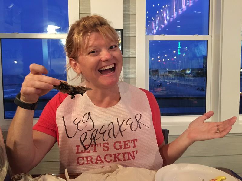 Deb at the crab shack