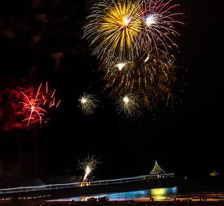 Fireworks Xmas16 Corinne and Geogre Strand