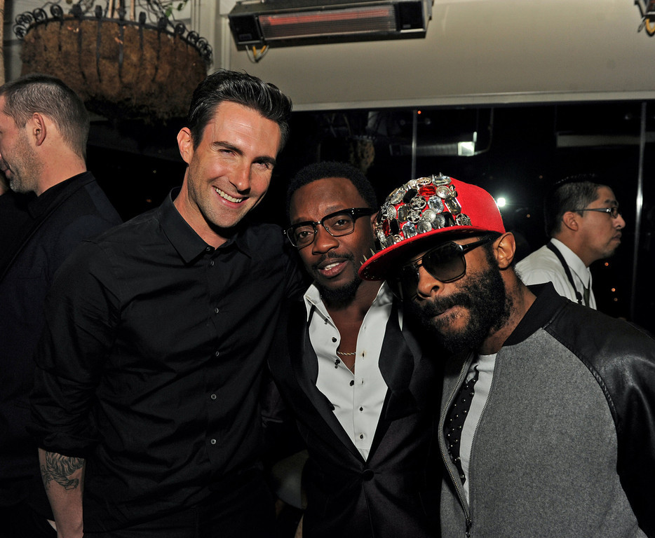 . Adam Levin, Anthony Hamilton and E.D. Kane attend the Maroon 5 Grammy After Party & Adam Levine Fragrance Launch Event on February 10, 2013 in West Hollywood, California.  (Photo by Kevin Winter/Getty Images for PRESS HERE)
