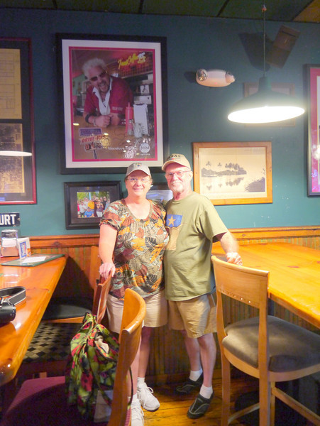 Lunch at Scully's Tavern - featured on Guy Fieri's Diners, Drive-ins and Dives, Miami, Florida