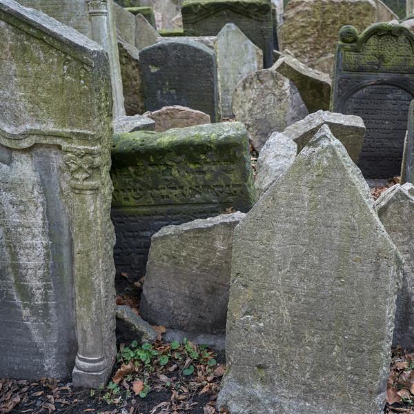 Tombstones in Old Jewish Cemetery, Prague, Czech Republic