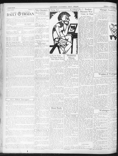 Daily Trojan, Vol. 23, No. 92, February 19, 1932