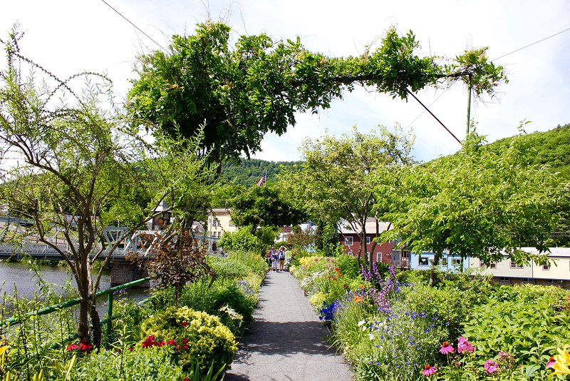 Bridge of Flowers in Shelburne Falls, Massachusetts