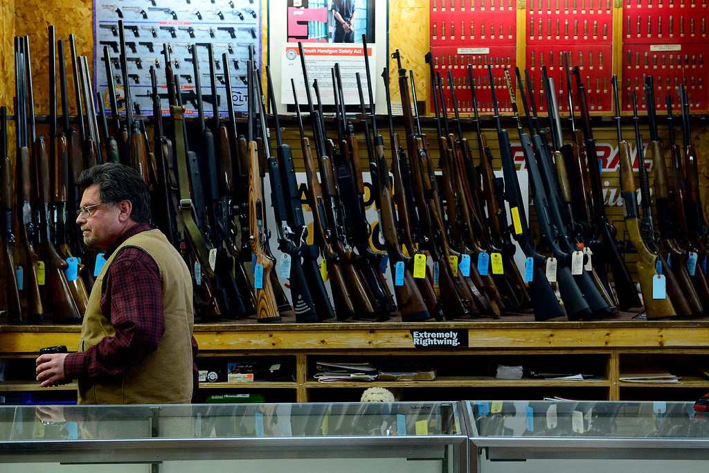 . MONTE VISTA, CO - FEBRUARY 26: Valley Gun owner Carlton Thomas speaks about the gun culture of southern Colorado in Monte Vista. Gun owners in southern Colorado largely agree that responsible ownership begins at home. (Photo by AAron Ontiveroz/The Denver Post)