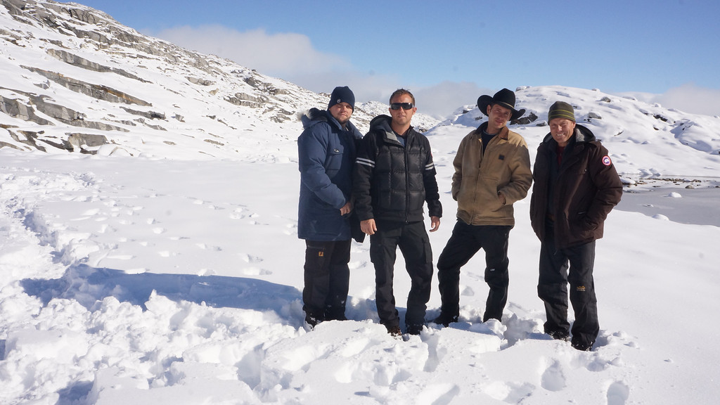 . Ice Cold Gold. Americo, Gator, Josh and Eric in Fiskenaessik. Cynthia Palomo/Discovery Communications