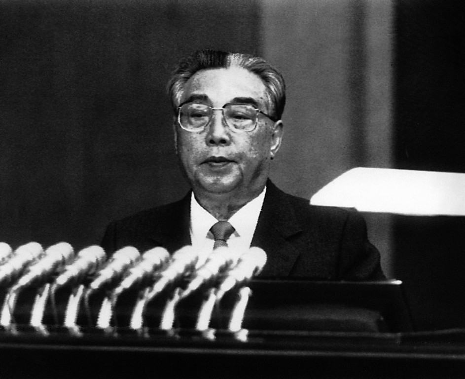 . In this May 24, 1990 photo from North Korea\'s official Korean Central News Agency, distributed by Korea News Service, leader Kim Il Sung has a speech at the first session of the 9th Supreme People\'s Assembly held at Pyongyang, North Korea. (Korean Central News Agency/Korea News Service via AP Images)