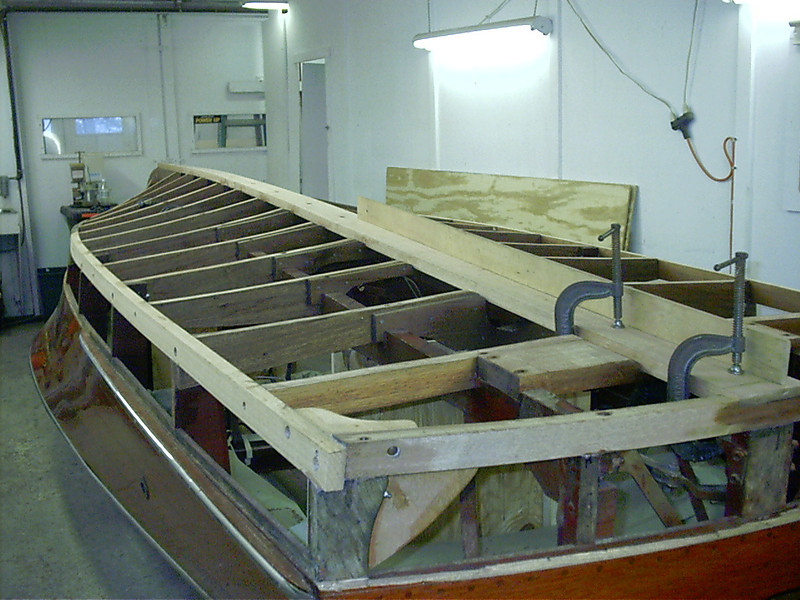 Starboard rear view of new keel installed.
