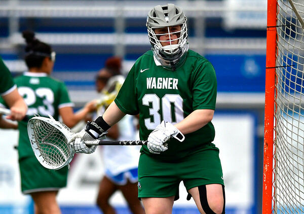 4/20/2019 Mike Orazzi | Staff Wagner Women's Lacrosse's Kelsey Fee (30) against CCSU in New Britain on Saturday.