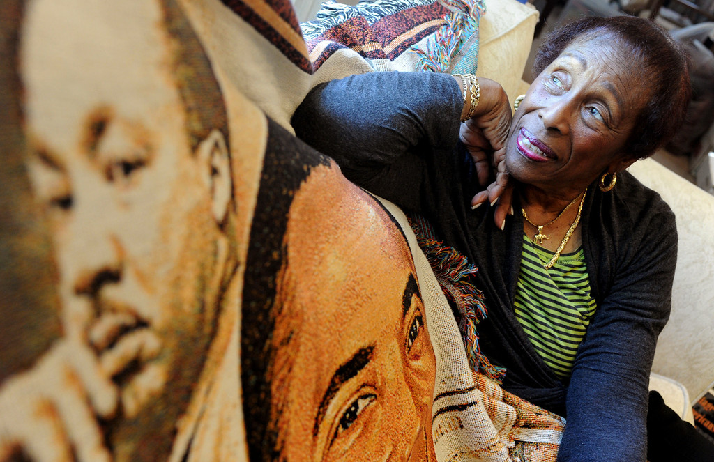 . Doris Topsy-Elvord, first African-American woman on the Long Beach City Council and co-founder of the African-American Heritage Society of Long Beach, was inspired by the words of Rev. Martin Luther King Jr. to stop talking and start doing. (Photo by Sean Hiller/ Press Telegram/ LANG) 08-21-2013